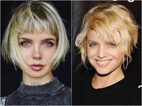 Зачіски на коротке волосся фотографії