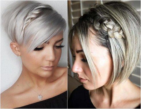 Зачіски на коротке волосся - плетіння